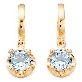 三月诞生石耳环5毫米天然海蓝宝石头饰触摸
