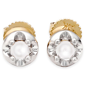 六月诞生石耳环3mm的天然珍珠头饰针