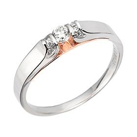 "<b><font color=""b400b0"" >[第一部分部分情感]</font></b> <br> 14K / 18K Special Love Part 1钻石戒指"