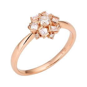 "<b><font color=""b400b0"" >[第一部分情绪]</font></b> <br> 14K / 18K Love Affair第1部分钻石戒指"
