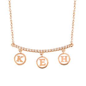 14K / 18K立方米棒币吊饰项链缩写