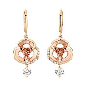 芭芭拉18K玫瑰耳环