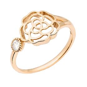 14K / 18K玫瑰一个戒指