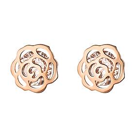 迷人的14k玫瑰耳环(当日出货)