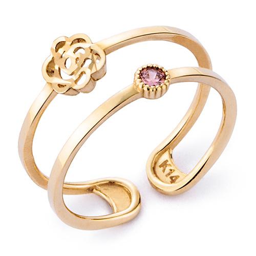 14K / 18K玫瑰紫色戒指