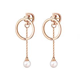 14K / 18K圆圈淡水珍珠变化耳环