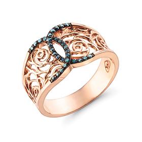 14K / 18K吉赛尔蓝钻石戒指