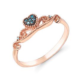 14K / 18K爱内蒂蓝钻石戒指