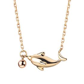 14K / 18K海豚项链