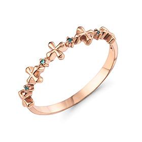 14K / 18K莉莉·克罗斯蓝钻石戒指