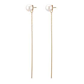 龙珍珠耳环14K轨