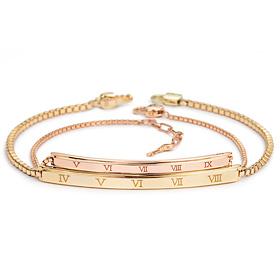 14K / 18K阿拉伯钻石情侣手链[男,女一种价格;