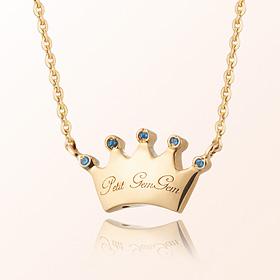 丰满王冠诞生石米娅防止金项链