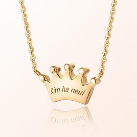 米娅丰满王冠防止金项链