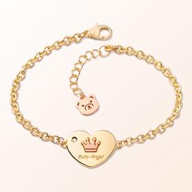心脏硬币王冠米娅抗金手链