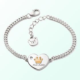 心脏硬币王冠米娅防止银手镯