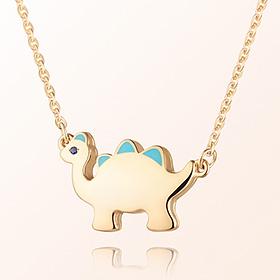 恐龙遗迹(蓝色)米娅防止金项链