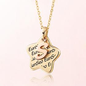 童星米娅字母防止金项链