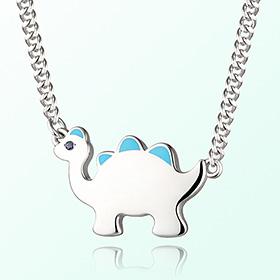 恐龙遗迹(蓝色)米娅防止银项链