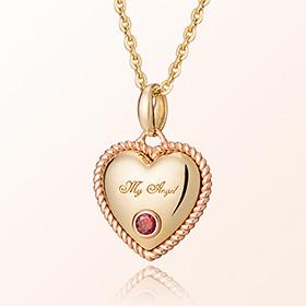 卷心脏石榴石月诞生米娅防止金项链