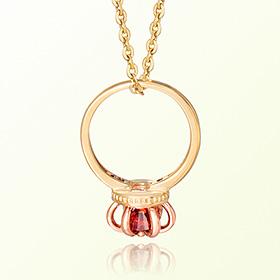 皇冠戒指石榴石一月诞生米娅防止金项链