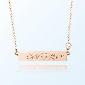 [妈妈]简洁棒子金项链