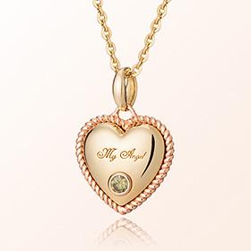 卷心脏黄水晶(黄寿井)十一月诞生米娅防止金项链