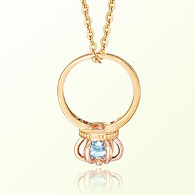皇冠戒指黄玉十一月诞生米娅防止金项链