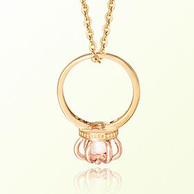 皇冠戒指猫眼石十月诞生米娅防止金项链