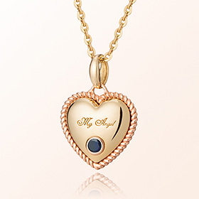 卷心蓝宝石九月诞生石米娅防止金项链
