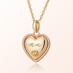 卷心脏橄榄石八月诞生米娅防止金项链