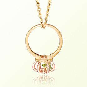 皇冠戒指橄榄石八月诞生米娅防止金项链