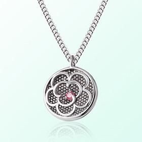 [宝宝]花米亚防止银项链