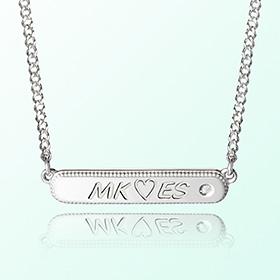 [宝宝]简洁关键点米娅防止银项链
