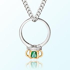 皇冠戒指祖母绿可能诞生米娅防止银项链