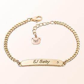 [宝宝]简洁关键点米娅抗金手链