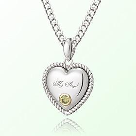 卷心脏黄水晶(黄寿井)十一月诞生米娅防止银项链