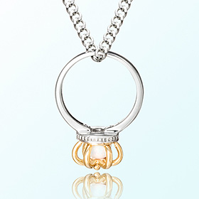 皇冠戒指猫眼石十月诞生米娅防止银项链