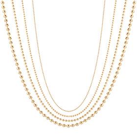 14K玻璃珠项链链4种选择一个