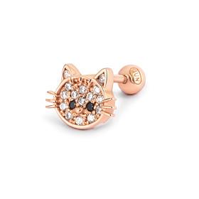 可爱猫耳环14K