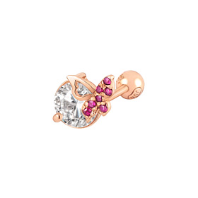 14K红宝石蝴蝶耳环