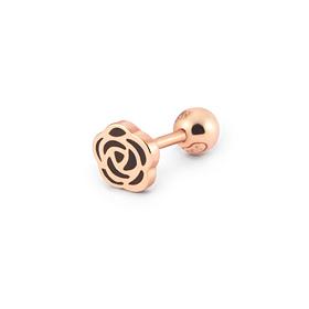 14K黑色玫瑰耳环