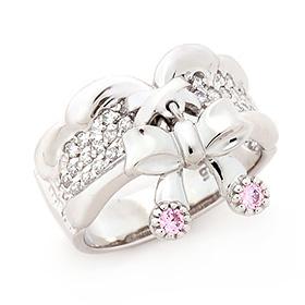 银色粉红丝带eunae插入环