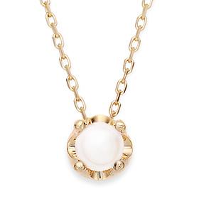 六月诞生石5毫米天然珍珠头饰项链