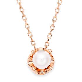 六月诞生石4毫米天然珍珠头饰项链