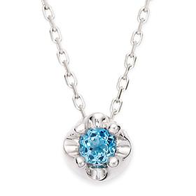 十一月诞生石蓝黄玉3毫米自然头饰项链