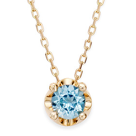 十一月诞生石蓝黄玉5毫米自然头饰项链