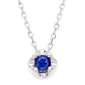 九月诞生石3毫米天然蓝宝石头饰项链