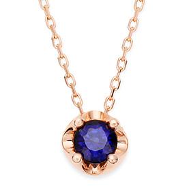 九月诞生石4毫米天然蓝宝石头饰项链