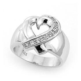 银色哈特兰女性纯银戒指